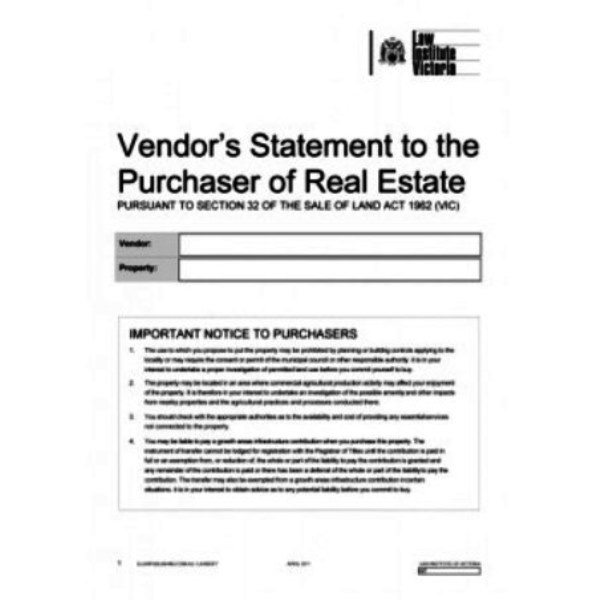 Section 32 Vendors Statement | Buyer Marketing Melbourne